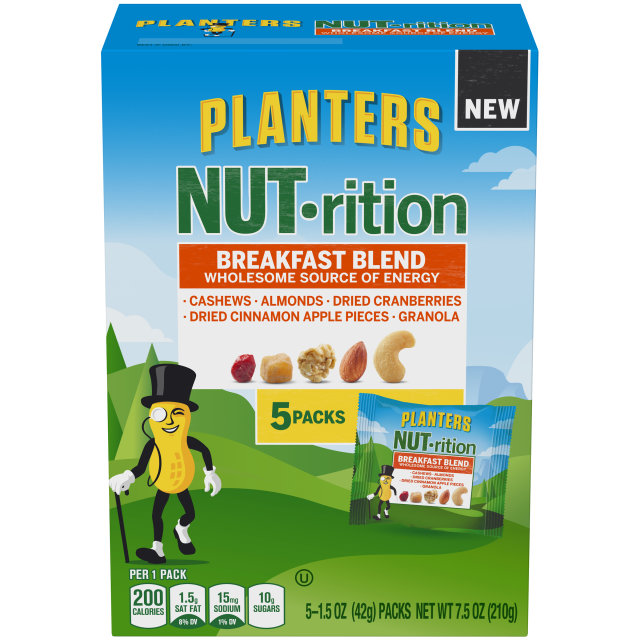 PLANTERS NUT-rition Breakfast Blend 7.5 oz Box (5-1.5 oz Packs) image