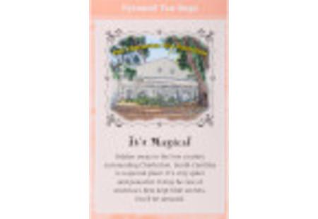 Back of Charlteston Tea Plantation Peach Tea box