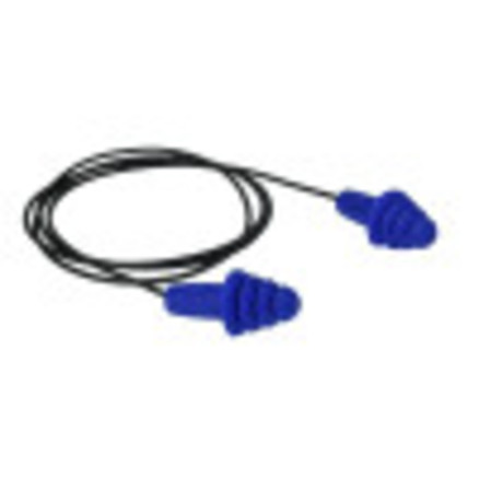 Radians Resistor® II Metal Detectable Reusable Flanged Corded Earplugs