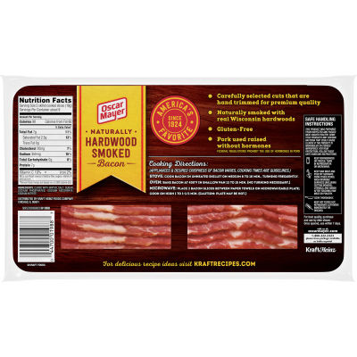 Oscar Mayer Naturally Hardwood Smoked Bacon, 16 oz Pack