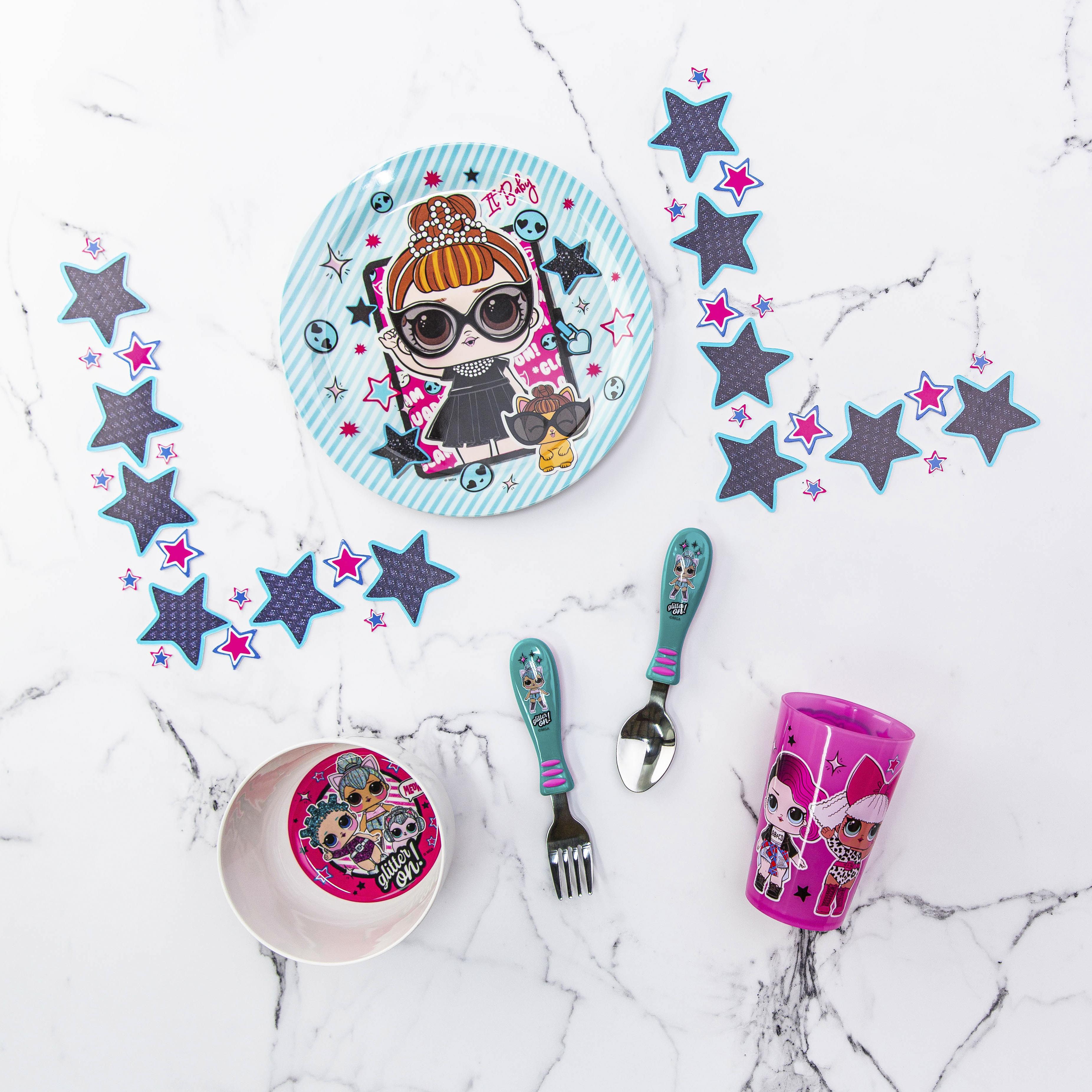 LOL Surprise Dinnerware Set, Glitter ON!, 5-piece set slideshow image 5