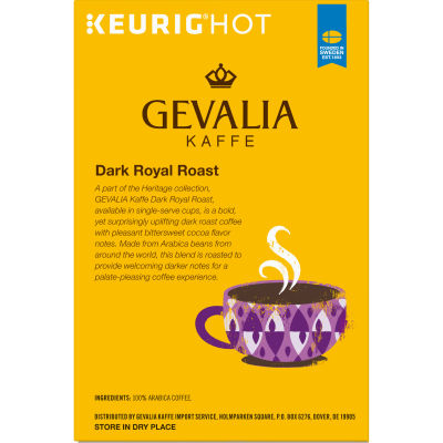 Gevalia Dark Royal Roast Coffee K-Cup Pods, 18 count