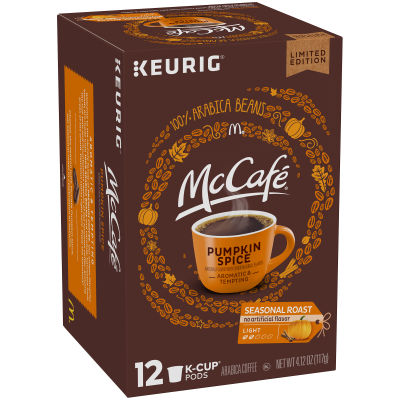 McCafe Pumpkin Spice Coffee K-Cup Pods, 12 count