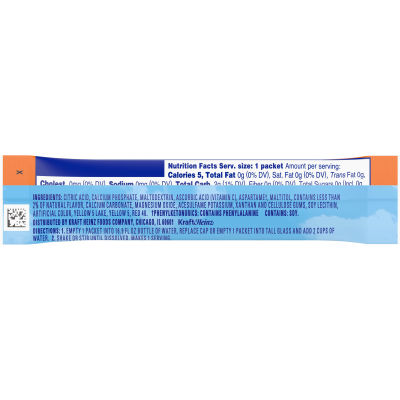 Crystal Light On-The-Go Sugar-Free Classic Orange Sunrise Drink Mix 0.13 oz Wrapper