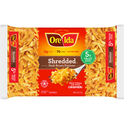 Ore-Ida Shredded Hash Brown Potatoes 5 lb Bag