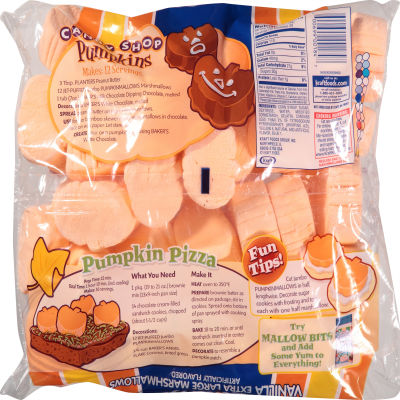 JET-PUFFED Jumbo PumpkinMallows Seasonal Marshmallows 24oz Bag