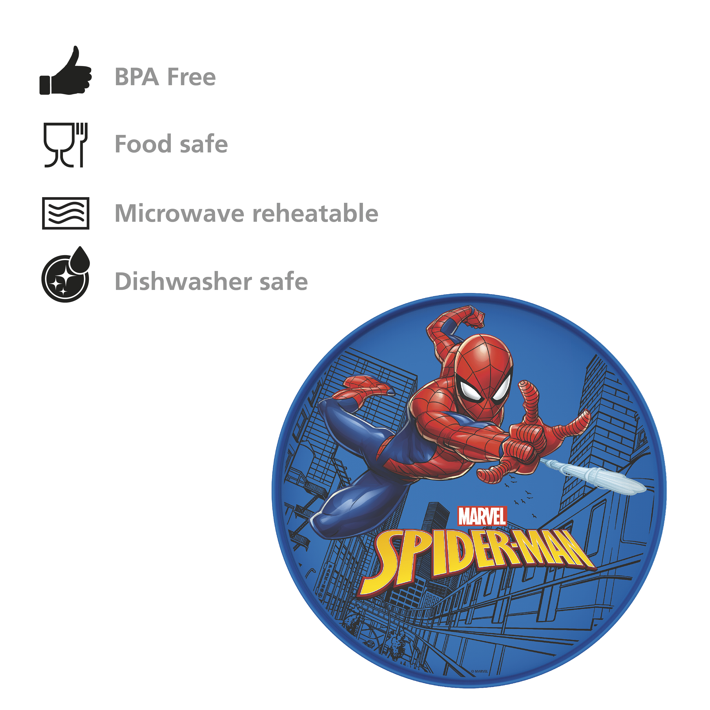Marvel Comics Kids Dinnerware, Spider-Man, 2-piece set slideshow image 7