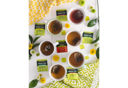 Front of Mixed Case of Green Teas - 6 boxes