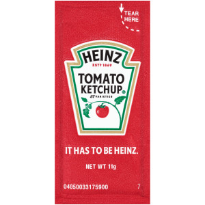 HEINZ Single Serve Ketchup, 11 gr. Packets (Pack of 500) image