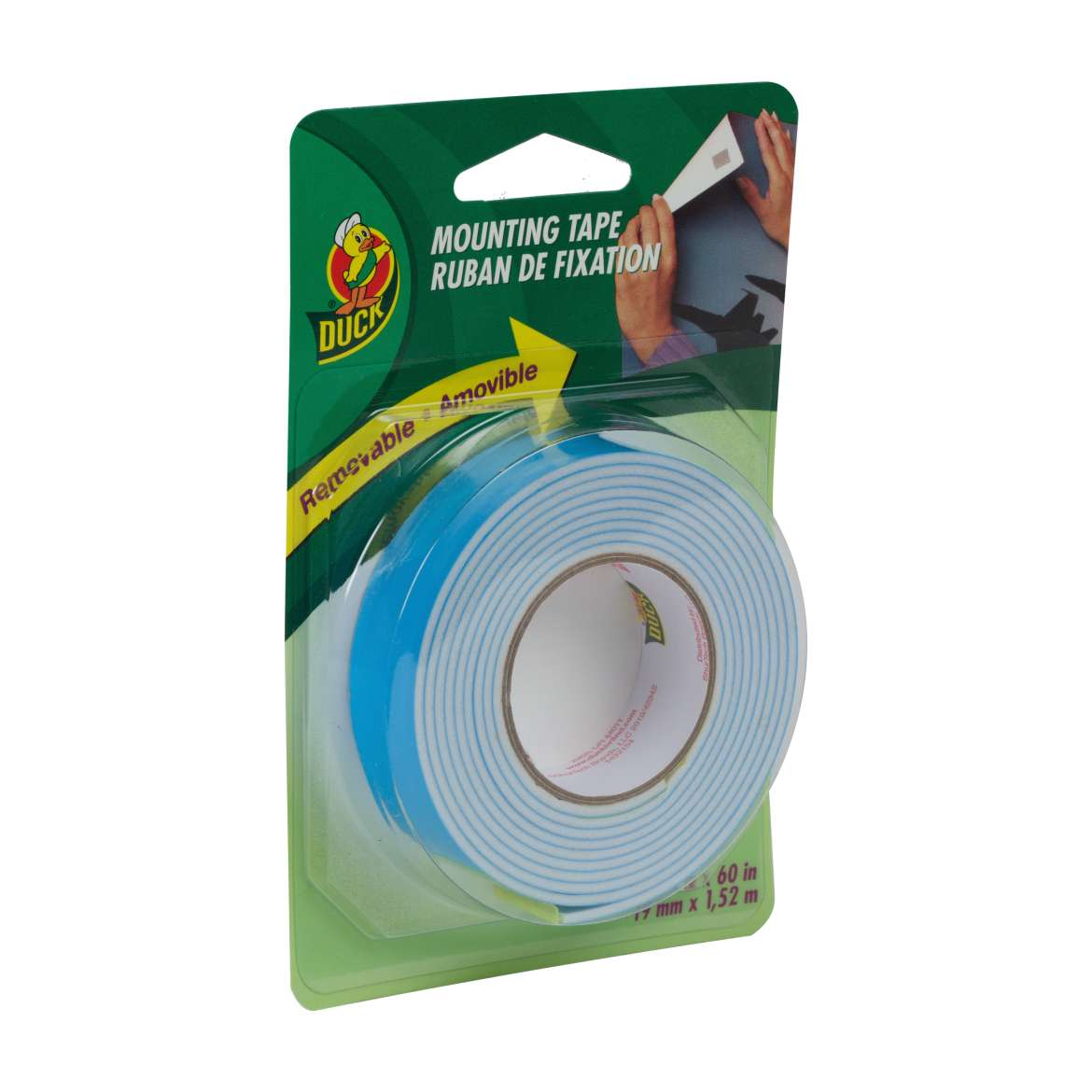 Duck® Brand Removable Mounting Tape - White, .75 in. x 60 in. Image
