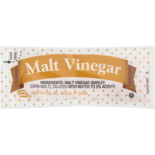 PPI Single Serve Malt Vinegar, 9 gr. Packets (Pack of 200)