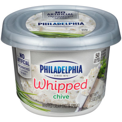 Philadelphia Chives Whipped Cream Cheese Spread 7.5 oz Tub