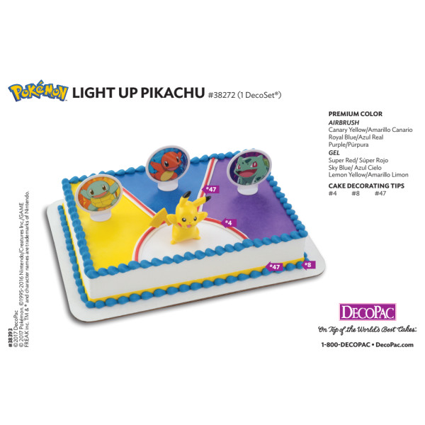Pokémon™ Light Up Pikachu Cake Decorating Instruction Card