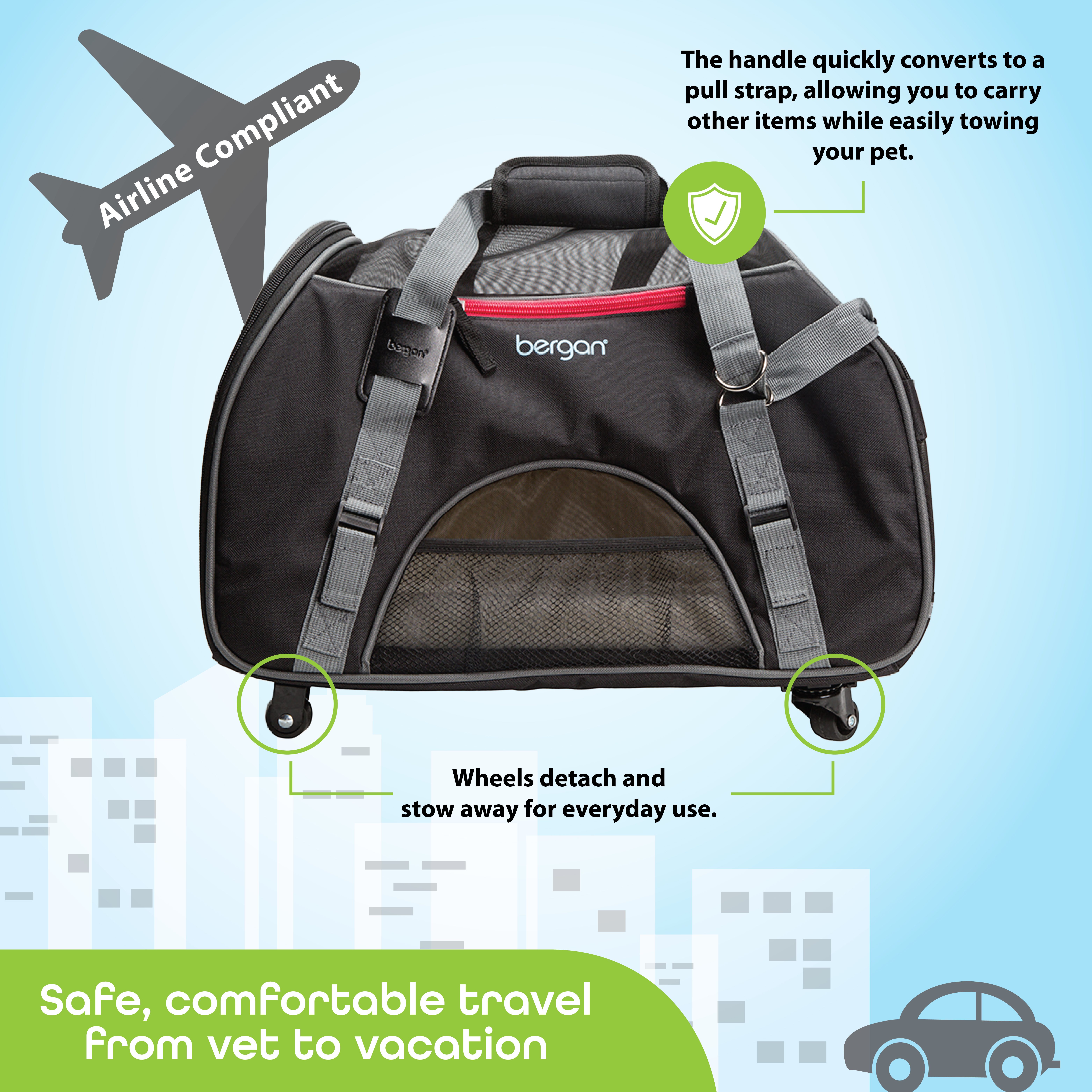 Bergan® Wheeled Comfort Carrier™