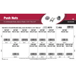 "Push Nuts Assortment (For Unthreaded Rods, Axles, or Rivets sized 3/16"" thru 3/4"")"