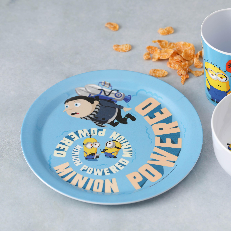 Minions 2 Movie Kid's Dinnerware Set, Minions and Felonius Gru, 3-piece set slideshow image 11