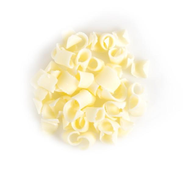 White Blossom Curls Belgian Chocolate