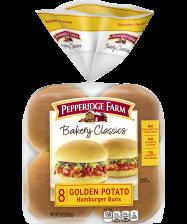 Pepperidge Farm® Golden Potato Hamburger Buns, split