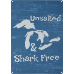 "Unsalted and Shark Free Novelty Sign (10"" x 14"")"