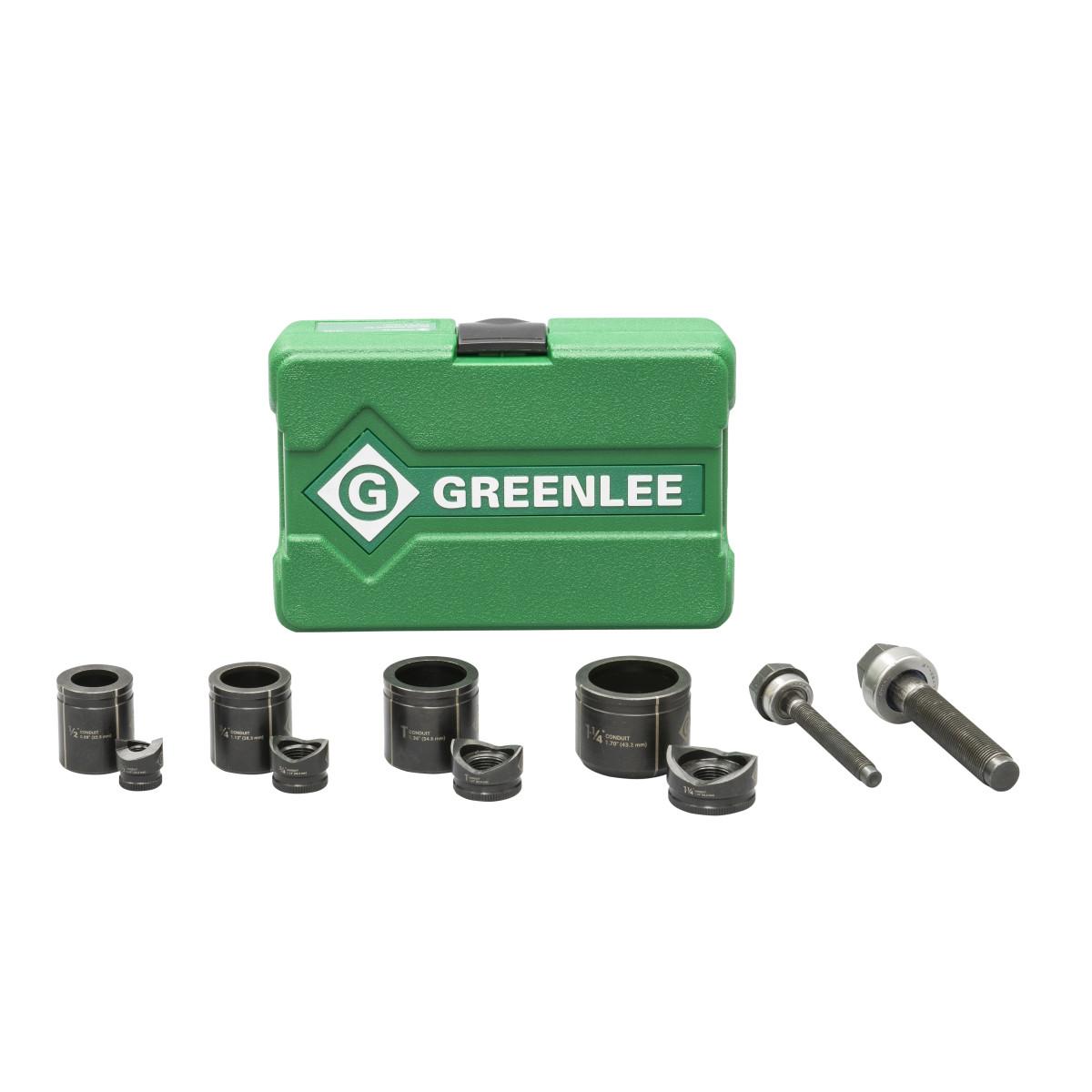 "Greenlee 735BB Standard Knockout Punch Set 1/2"" - 1-1/4"" Conduit Size"