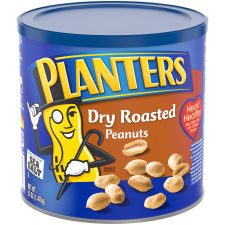 Planters Dry Roasted Peanuts, 52 oz Canister