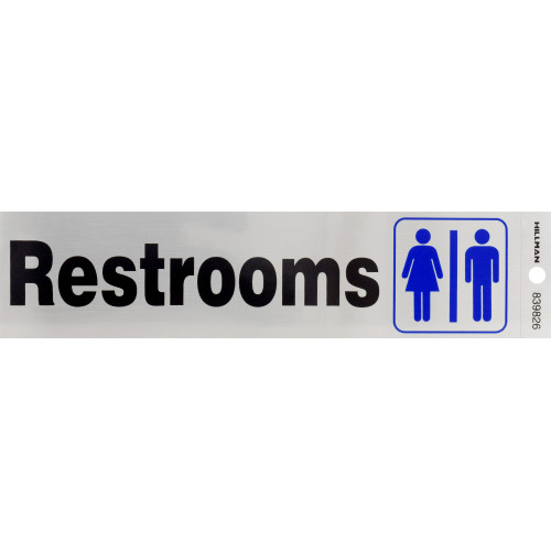 Adhesive Restrooms Sign (2