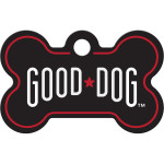 Good Dog Black Small Bone Quick-Tag