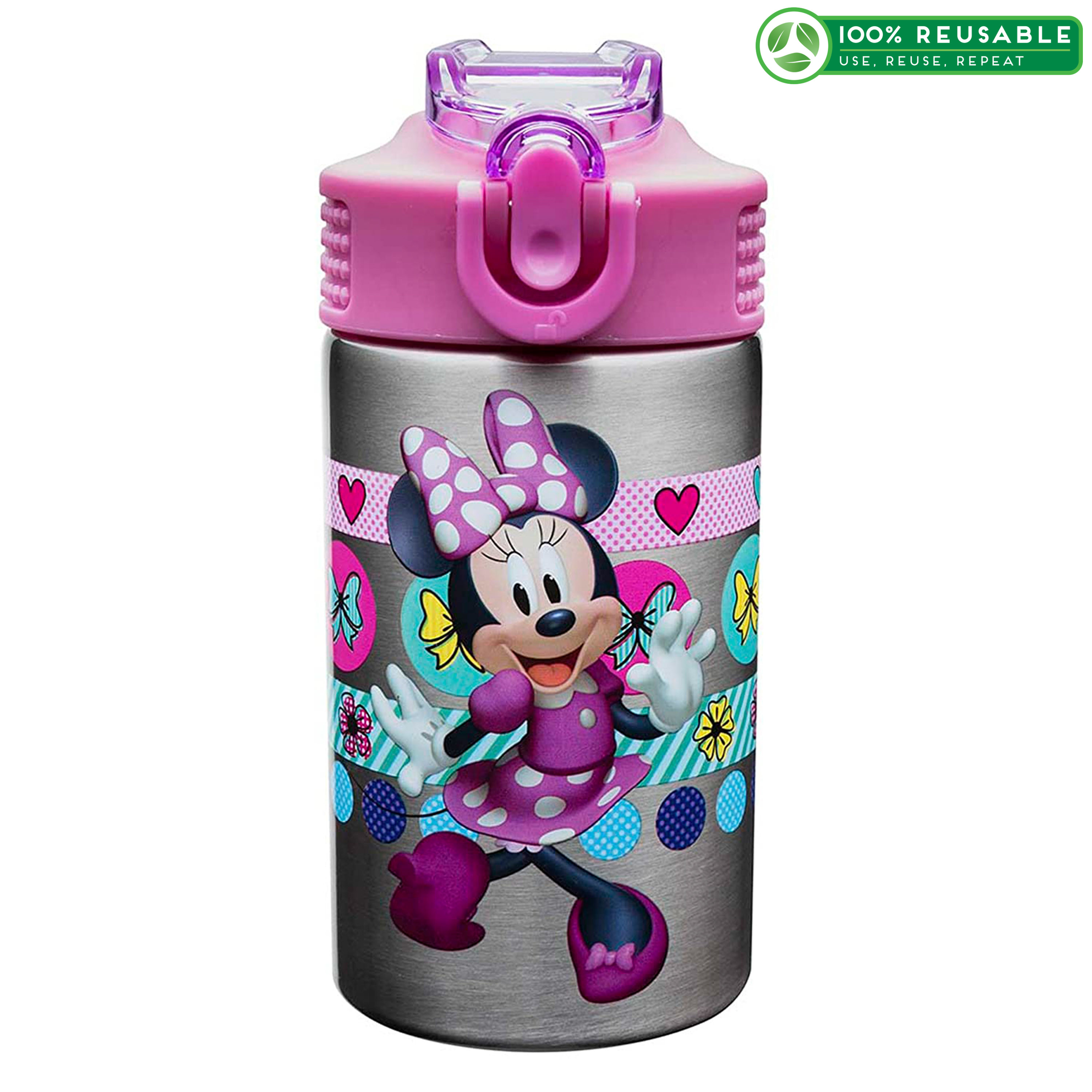 Disney 15.5 ounce Water Bottle, Minnie Mouse & Daisy Duck slideshow image 1