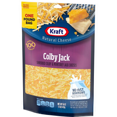 Kraft Colby Jack Finely Shredded Natural Cheese 2 - 16 oz Bags