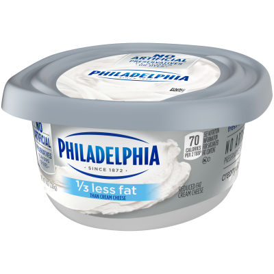 Philadelphia Plain 1/3 Less Fat Cream Cheese Spread 8 oz Tub