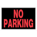 Black No Parking Horizontal Sign