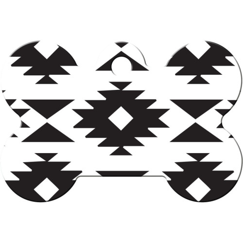 Black and White Aztec Large Bone Quick-Tag 5 Pack