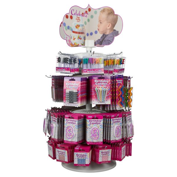Party Purple Numeral Candle Kit