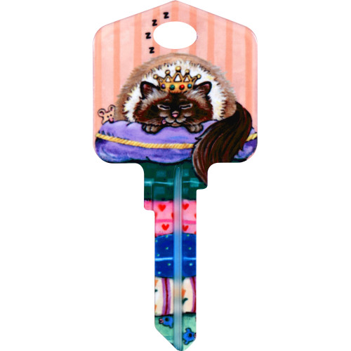 Paws & Claws Spoiled Rotten Key Blank Kwikset 66/97 KW1/10
