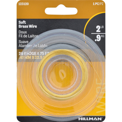 Hillman Brass Hobby Wire 28 Gauge 75'