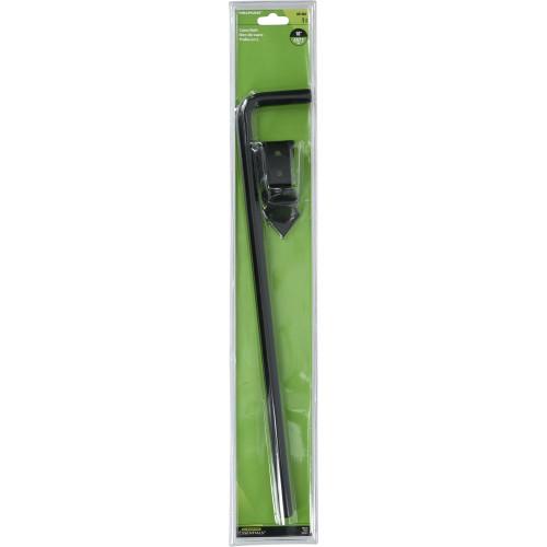 Hardware Essentials Black Adjustable Cane Bolt 1/2