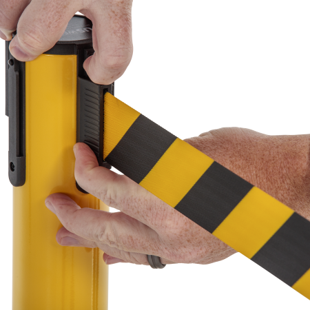 Premium Steel Stanchion - Yellow with CYB belt 15