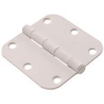 "Hardware Essentials 5/8"" Round Corner White Door Hinges (3-1/2"")"