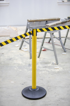 Premium Steel Stanchion - Yellow with CYB belt 10