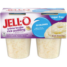 Jell-O Ready to Eat Sugar Free Créme Brule Rice Pudding Snack, 14.5 oz Sleeve (4 Cups)