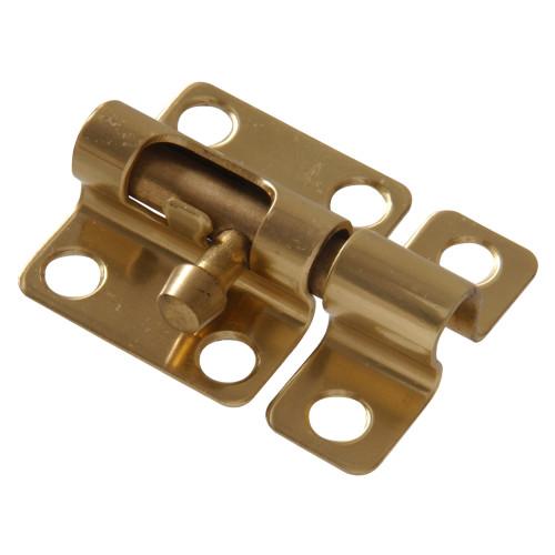 Hardware Essentials Solid Brass/Bright Brass Mini Barrel Bolt 2