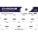 Thin SAE Chrome Nylon Insert Lock Nuts Assortment