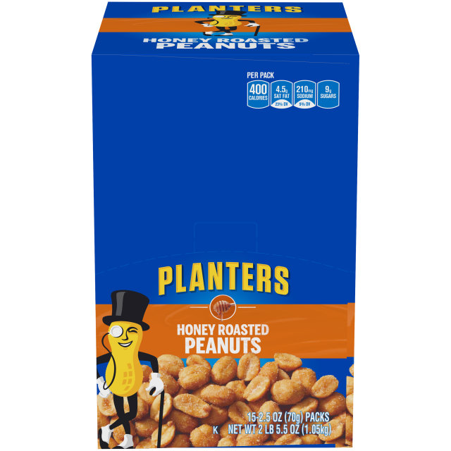Planters Honey Roasted Peanuts 15-2.5 oz Packs