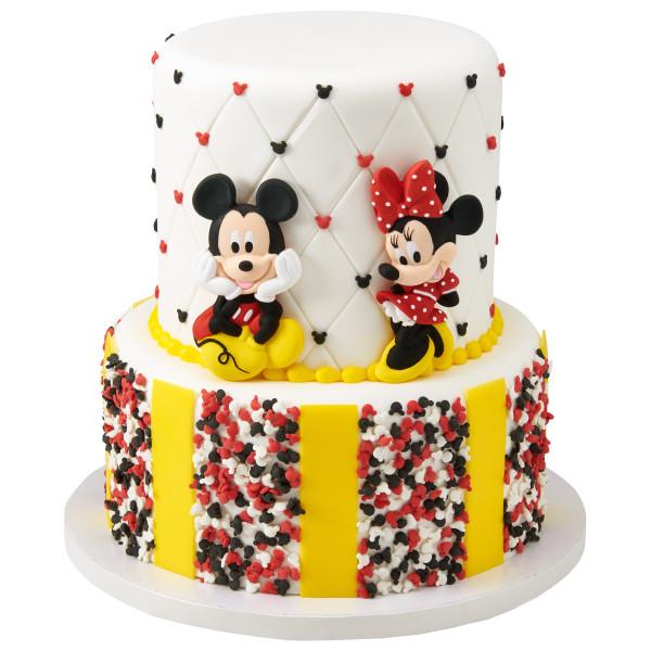 Mickey and Minnie Gum Paste Characters