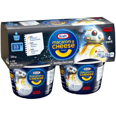 Kraft Easy Mac Star Wars Shapes Macaroni & Cheese Dinner 4 count Sleeve