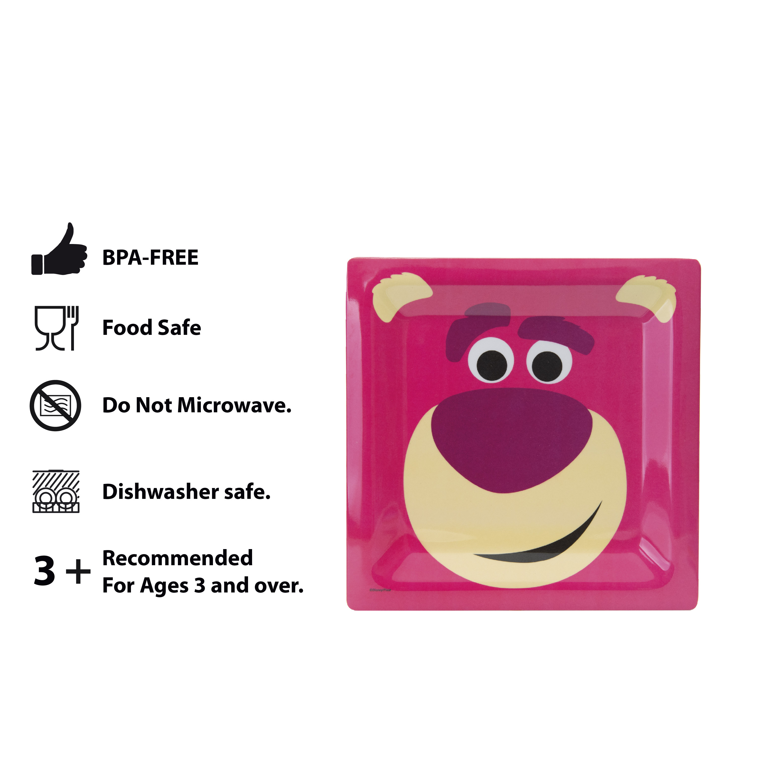 Disney and Pixar Toy Story 4 Plate and Bowl Set, Lotso, 2-piece set slideshow image 11
