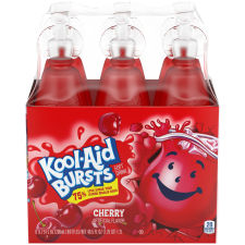 Kool-Aid Bursts Cherry Ready-to-Drink Juice 6 - 6.75 fl oz Packs