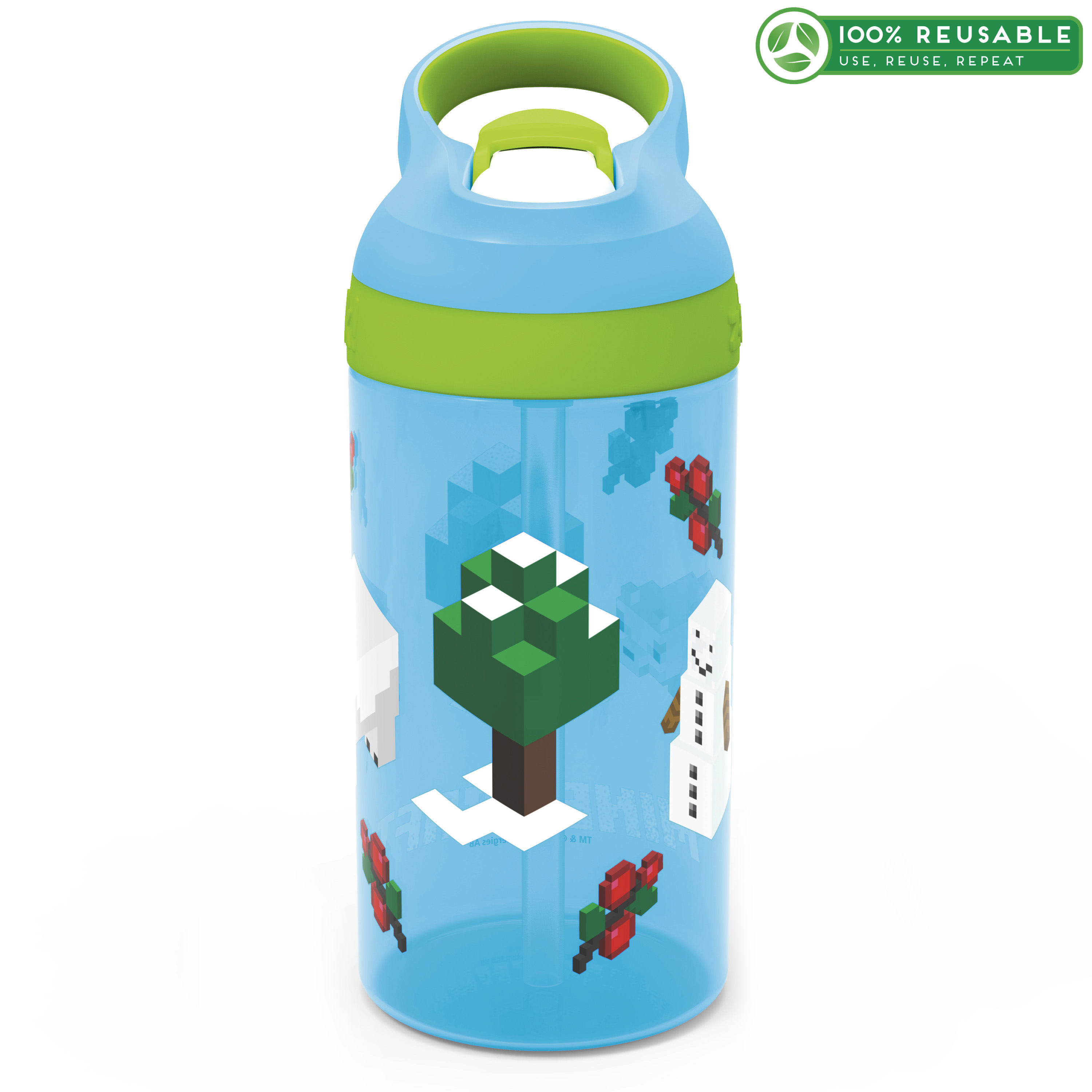 Minecraft 16 ounce Water Bottle, Assorted Minecraft Characters slideshow image 1
