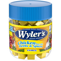 Wyler's Chicken Flavor with Herbs & Spices Instant Bouillon Cubes 3.25 oz Jar image