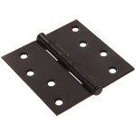 Hardware Essentials Square Corner Black Door Hinges